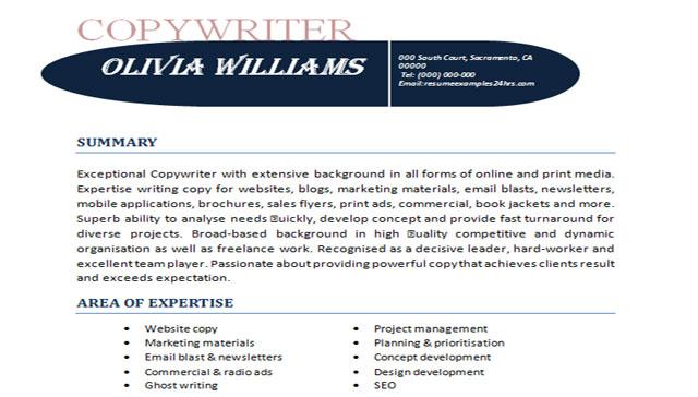 Copywriter-resume-sample