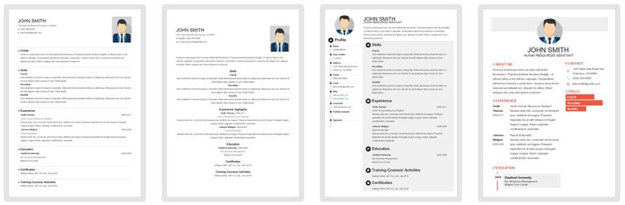 แบบฟอร์ม resume สวยๆ